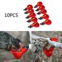 Chicken Hen Plastic Automatic Drinker Quail 10Pack Poultry Water Drinking Cups