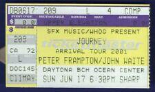 Journey / Peter Frampton / John Waite Stub Daytona Beach Ocean Ctr Jun 17 2001