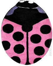 "Ladybug  Rug  Pink Color  Lady Bug  Insect  Kids Play  Mat  Size 35""x39"" New"