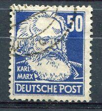 ALLEMAGNE DDR, timbre outremer CELEBRITE, KARL MARX, oblitéré