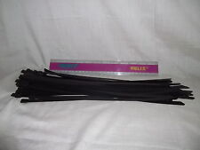 10 Stainless steel cable ties large strong 360 x 7.9mm  316 metal black coated