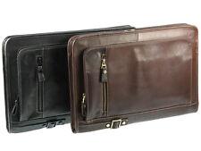 Primehide Zip Around Under Arm Leather Folio A4 Document Holder Folder Case