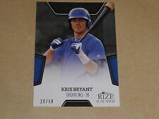 2013 Rize Draft Baseball Black Rize of the Prodigy 3 Kris Bryant RC /50