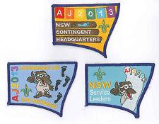 AJ2013 - AUSTRALIA SCOUT JAMBOREE - NEW SOUTH WALES (NSW) SCOUTS BADGE SET OF 3