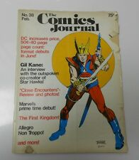 1977 COMICS JOURNAL #38 GIL KANE Cover STAR HAWKS G/VG