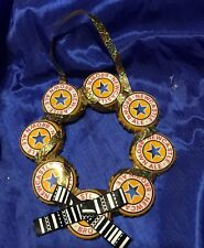 Handmade Newcastle Brown Ale Beer Bottle Cap Wreath Christmas Holiday Ornament