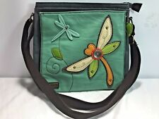 CHALA Dragonfly Deluxe Canvas Cross Body Messenger Tote Bag Purse