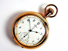 Mega Rare Antique Waltham Split Second fly-back Chronograph Gold Pocket Watch