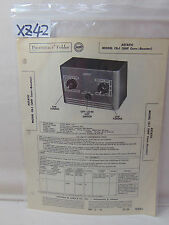 SAMS PHOTOFACT FOLDER MANUAL & SCHEMATIC ASTATIC CB-1 UHF CONVERTER-BOOSTER