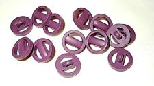 Lot of 12 Unusual Vintage Shank Buttons Grape / Purple 16 mm
