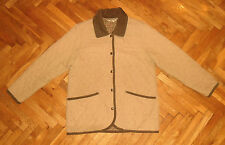 ORVIS diamond quilted beige checked lining sports jacket women M