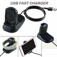 2in1 USB Fast Charger Charging Dock Stand for Misfit Vapor Smartwatch Smartphone