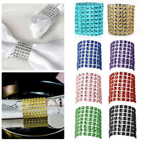 Acrylic Diamond Napkin Rings Serviette Holder Party Table Decor 10 - 50pcs