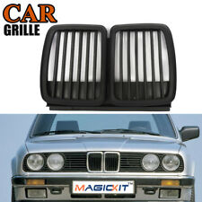 For 1982-94 BMW E30 3 Series Front Hood Kidney Grille Grill M3 Look Matte Black