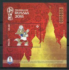 Malta 2018 MNH FIFA World Cup Football Russia Zabivaka 1v M/S Sports Stamps