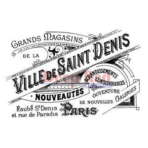 Deep Red Stamps Ville de Saint Denis Rubber Cling Stamp