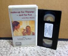 MAKE-UP FOR THEATER instructional VHS hair piece Ellen Dennis illusion Halloween