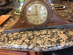 ELECTRIC   TELECHRON SHIPS BELL CLOCK  FOR PARTS  OR REPAIR