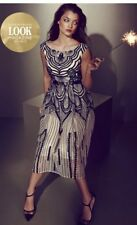 New Little Mistress Gold/black Heavily Embellished Party Prom Bridesmaids Dress