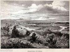 CAMPO di BATTAGLIA di CANNE,tra Romani e Cartaginesi.Ofanto.Barletta.Puglia.1876