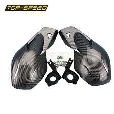 "Dirt Bike ATV Motorcycle Hand Guards 7/8"" Carbon Color For KTM 200 Honda Suzuki"