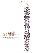 """Purple String of Pearls 26"""" Hanging Succulent Pick Filler Real Touch Plant"""