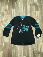 NEW Authentic Adidas San Jose Sharks Alternate Third Jersey 46 Climalite Blank