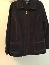 Koret Women Cotton/Polyester dark blue jacket in size 18W