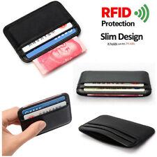 RFID Blocking Slim Wallet Men Leather ID Credit Card Holder Coin Mini Pocket New