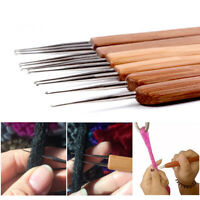Crochet Needle Hook Bamboo Handle Hooks Supply F/ Making Dreadlock Braiding Hair