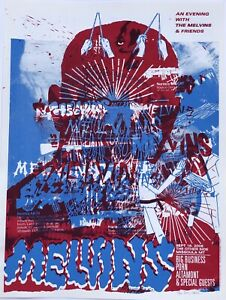 "The Melvins - 2006 poster - Denny Schmickle - 18x24"" Hand Screened"