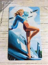 Sexy Army Girl Pinup WW2 Glossy Photo Fridge Magnet airplane war