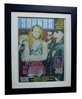 THE ALMIGHTY+POSTER+AD+FRAMED+OFFICIAL+SOUNDS+ORIGINAL 1989+EXPRESS GLOBAL SHIP