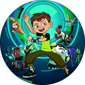 Ben 10 Edible Cake Topper Premium Wafer Paper Birthday Party Deco Muffin New