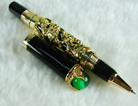 Jinhao Golden Dragon Playing Pearl Rollerball Pen with Jewelry On Top