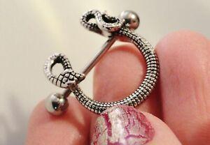 2x Snake U Nipple Ring Shields Sexy Piercing Nipple Bars Body Barbell Jewelry UK