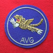 FLYING TIGERS Shoulder Patch - (AVG) WWII - SILVER & GOLD BULLION
