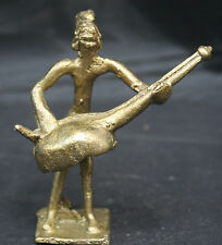 Antique African Ashanti Akan Lost Wax Bronze Brass Musician Figure Gold Weight