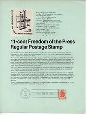 Estados Unidos Democracia 1ª Prensa Americana Hoja primer día año 1975 (CS-347)