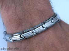 BRACELET STAINLESS STEEL ROMAN STYLE MEN'S JEWELLERY BRACELET RS4