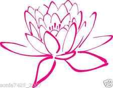 "Lotus Flower Decal Car Window Laptop Namaste Yoga India OM Vinyl Sticker 5""X6.5"""
