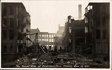 Newhey, Rochdale. Great Fire at Ellen Road Mill 1916.