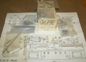 O Scale On3 On30 CHB BROMMER ENGINE LATHE Kit  MT-500 Appears Complete  Orig Box