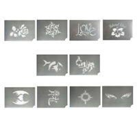 10pc Body Art Face Paint Stencil Reusable Template for Festival Party Makeup