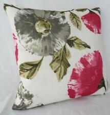Home Decor Coral Pink Floral Textured Pillow  Cushion Cover Throw 45cm