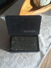 Schwarze Glamour Clutch Bag Swarovski Glitzertasche Glitter Cosmetic Abendtasche