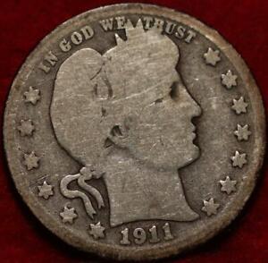 1911-D Denver Mint Silver Barber Quarter