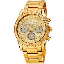 Men's Akribos XXIV AK1040YG Chronograph Diamond Gold Stainless Steel Watch