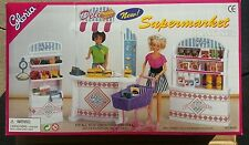GLORIA DOLLHOUSE FURNITURES SUPERMARKET W/FOOD ACCESSORIES PLAYSET FOR BARBIE