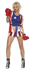 Leg Avenue Costume Knock Out Champ 83396 Red/Blue Small/Medium